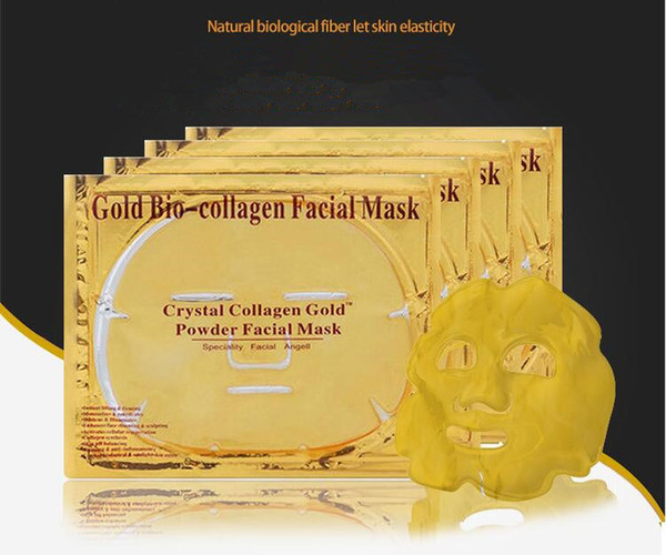 Facial Mask Gold Bio - Collagen mud Face sheet Masks Golden Crystal Powder Moisturizing Skin Care Smoother beauty