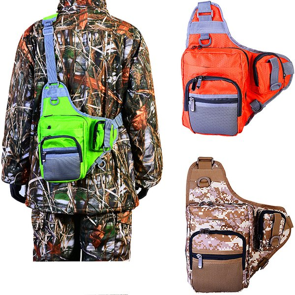 Multifunctional shoulder bag Fishing lure pocket Bags Red Green Camouflage 1000D waterproof Oxford cloth Vest diagonal Waist bag