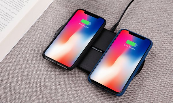 Double Wireless charging pad two devices pads NILLKIN Gemini dual QI standard 10w intelligent fast charger for iphone X XS PLUS
