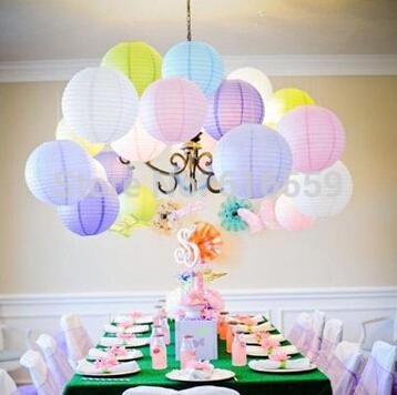 "10pcs 8"" (20cm) Chinese Round Paper Lanterns Balloon lanterns for Wedding Party DIY Home Hanging Paper Ball Decoration"