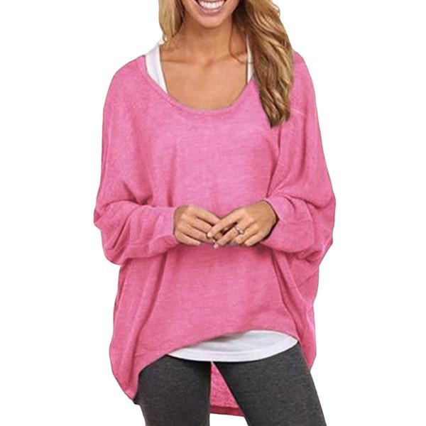 5xl Plus Size T Shirt Women Korean Casual Long Camisetas Mujer Batwing Sleeve Loose T-Shirt Female Pink Tunic Shirt Tops