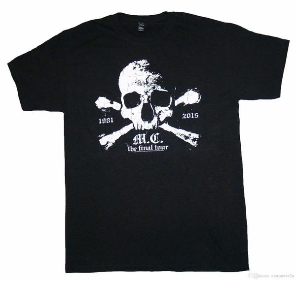 Acheter Motley Crue Tête De Mort Crossbone Final Tour T Shirt S M Xl 3xl Nouveau T Shirt Officiel Swag Manches Courtes Thanksgiving Day Custom 3xl