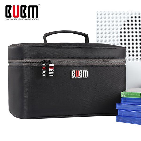 BUBM Portable Video Game Carrying Case Travel Storage Bag For PS4 / Xbox One / PS4 PRO / DVDs and  (Hold 20 Discs)