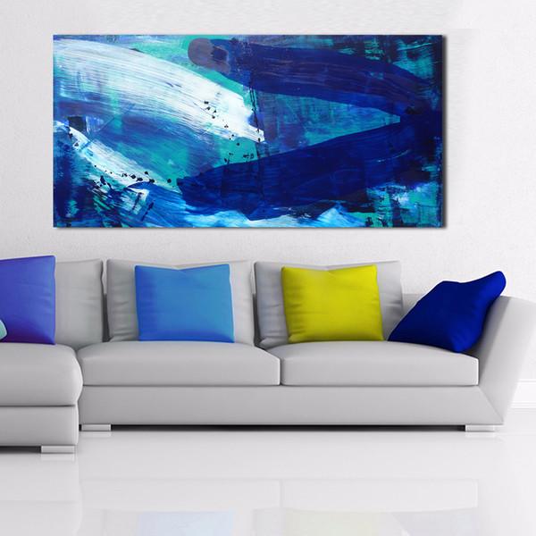 1 Pannello di grandi dimensioni Abstract The Waves Home Decor Soggiorno moderno Canvas Print Picture Pittura Wall Art No Frame