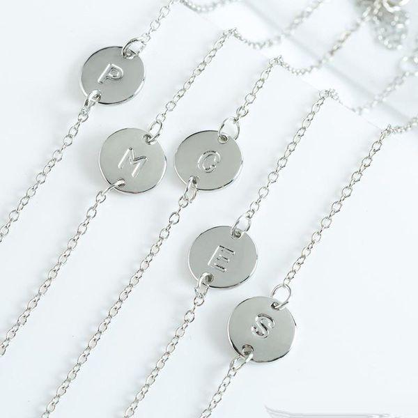 Fashion Silver Jewelry English Letter Mixed 26Styles A B C D E F G H I J K L M N O P Q R S T U V W X Y Z Bracelet