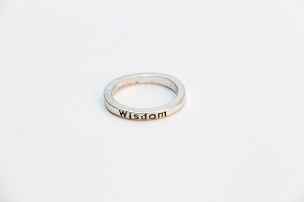 """Fashion exclusive retro ring silver plating ring letter """"wisdom"""" rings for women Wholesale and mixed color free shipping"""