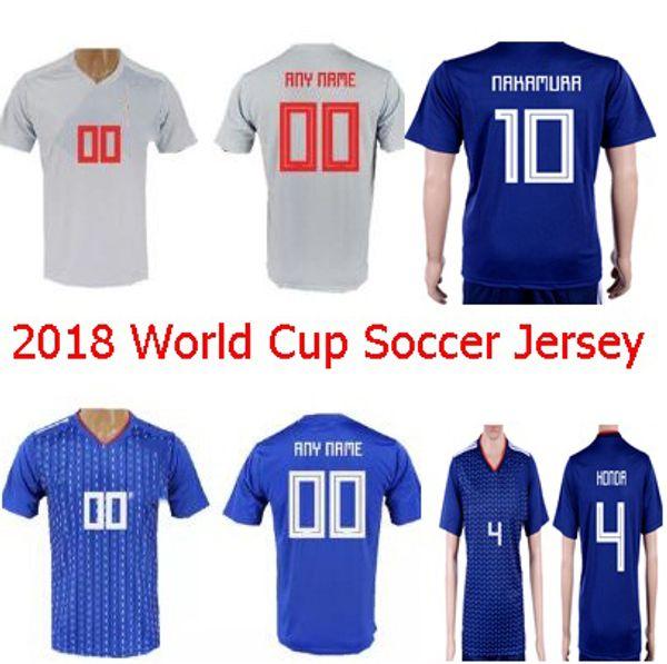 2018 Japan World Cup Soccer Jerseys Custom KAGAWA ATOM HARAGUCHI 4 HONDA 5  NAGATOMO 9 OKAZAKI HASEBE 13 KIYOTAK Home Navy Football Shirt 720cef505