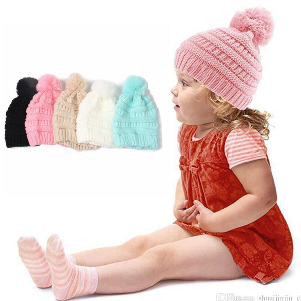 best selling Kids Trendy Beanie Knitted Hats Chunky Skull Caps Winter Cable Knit Slouchy Crochet Hats Fashion Outdoor Warm Oversized Hats OOA2452