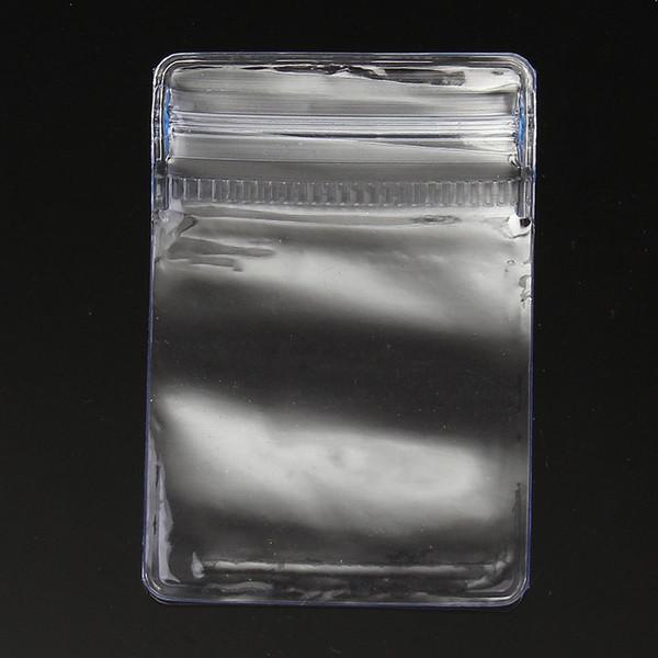 20F # 50 Pcs Limpar Ziplock PVC Saco De Plástico Anti-oxidação Jóias Colar Pulseira Ornamento Pacote De Armazenamento De Jade Bolsa 4 * 6 cm