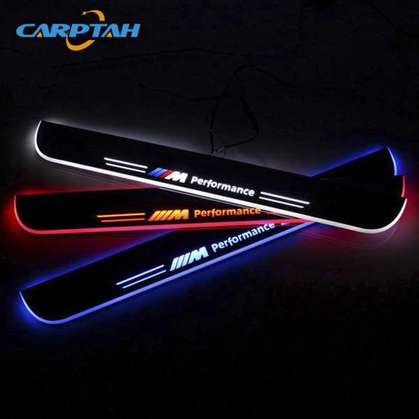 CARPTAH Trim Pedal Car Exterior Parts LED Door Sill Scuff Plate Pathway Dynamic Streamer light For BMW X3 F25 2011 - 2014 2015