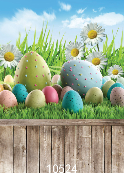 Different Sizes Easter Egg Children Baby Vinyl Photography Background Computer Printed Photography Backdrop for Photo Studio