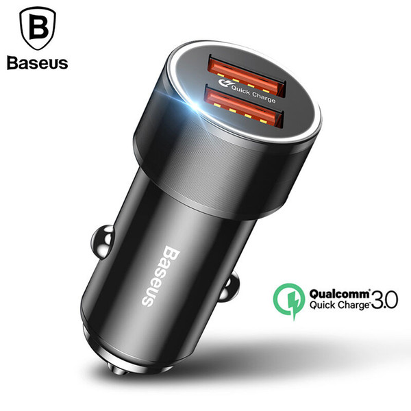 venta al por mayor 36 W Dual USB Quick Charger QC 3.0 Cargador de coche para iPhone 8 Samsung S9 Mini Car-Charger teléfono celular Travel Adapter Chargers