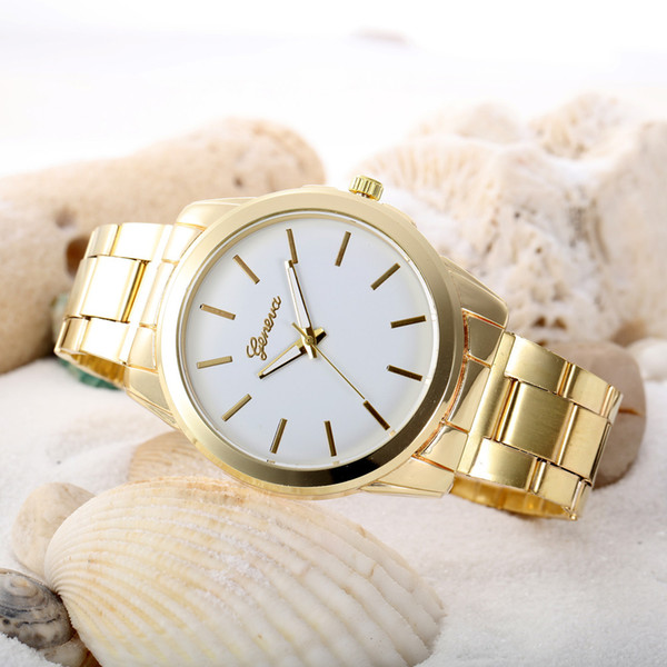 Luxury Stainless Steel Men's Bracelet Watches Women Colored Dial Analog Quartz Watch Unisex Female Clock Geneva Wrist Watch #N