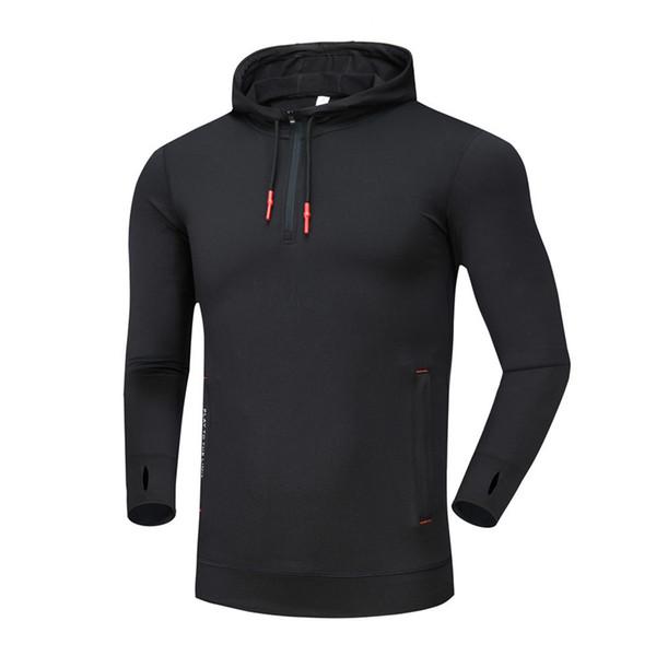 ceaf4980d8c 2018 Men Long Sleeve Running Jackets Fitness Sport Kit Warm Velvet Coat  Soccer Football Training Shirts Slim Fit Sweatshirt Hooded From Rainlnday,  ...