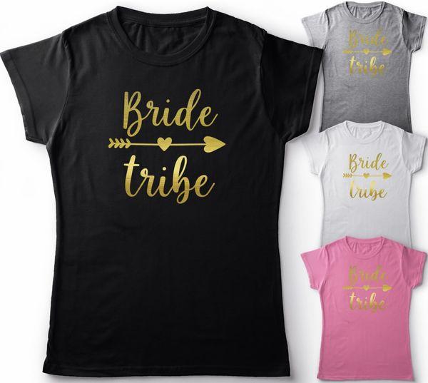 Bride Tribe  Hen Party Bride Gold print  Bridesmaid to Be unisex//ladies top