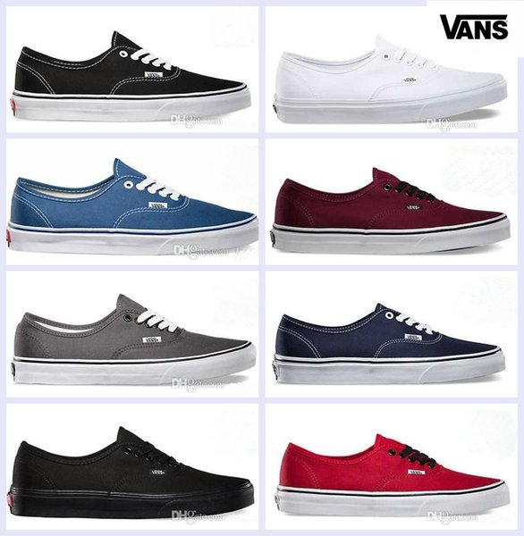 VANS Old Skool Low Black White Skateboard Classic Canvas Casual Skate Shoes zapatillas de deporte Women Men Vans Sneakers Trainers 36-44