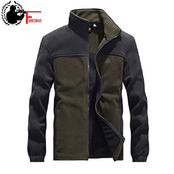 Tactical Fleece Hoodie Zipper Jacke Männer Patchwork Army Style Zip Jacke Mantel Rot Grün Schwarz Plus Größe 3XL 4XL