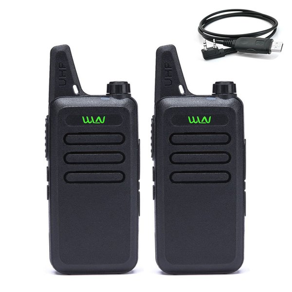 2 PCS WLN -C1 Mini Radio Walkie Talkie UHF 400-470MHz handheld transceiver cb radio Two Way Ham Portable (Black & White)
