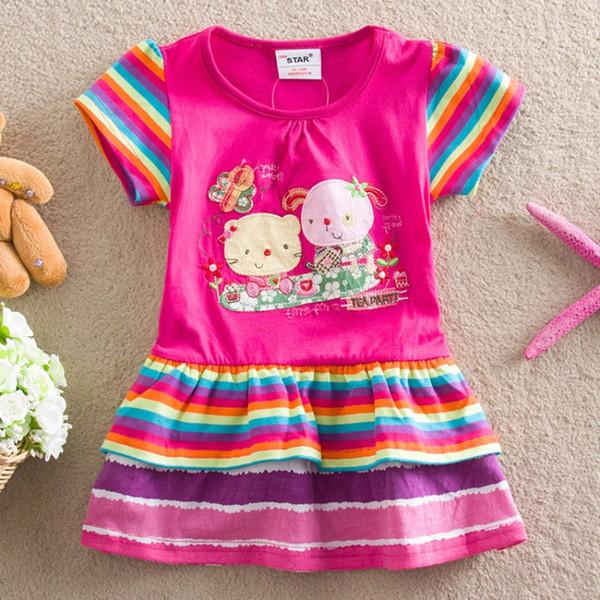 Meninas do bebê Traje outono meninas casual vestido adorável little party dress bebê menina flor crianças roupas