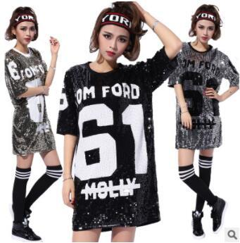 best selling Costumes New Female Singers Performing Jazz Dance Wear Hip Hop Street Dance Costumes Stage Costume Tops