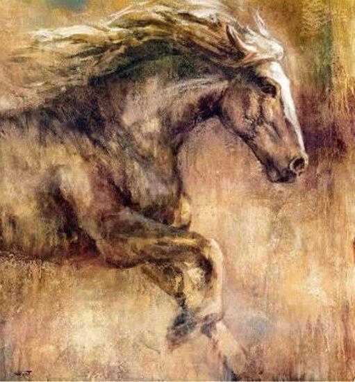 Pintados à mão Modern Horses Animais pintura a óleo abstrata Reprodução Da Arte Da Parede Da Lona na lona Sala de estar Home Office Decor, Multi Tamanhos S29