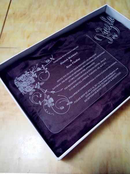 Compre Acrílico Personalizado Tarjeta De Cumpleaños Acrílico Grabado Tarjetas De Invitación De Boda Con Sobres Acrílico Boda Invitación Tarjeta