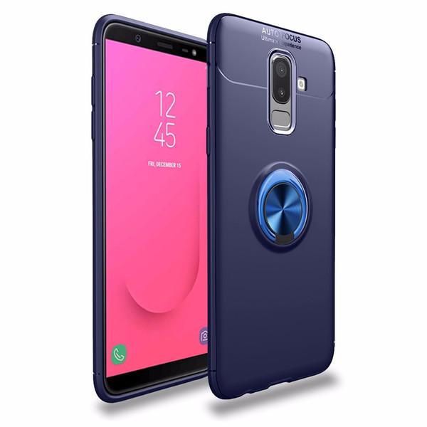 50pcs / lot Livraison gratuite véhicule Invisible Anneau Boucle TPU + Kirsite vente chaude couverture cas pour Samsung Galaxy J4 J6 2018 UE logement