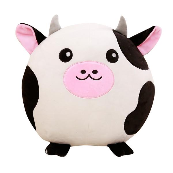 GGS 40cm Cute Cows Raccoon Pig Fox Cows Peluche Ripiene Morbido Animale Del Fumetto Cuscino Bel Regalo Di Natale Per I Bambini