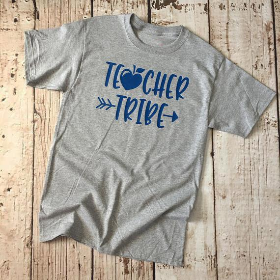 6b1bb89c Women's Tee Teacher Tribe T-shirt Teacher Arrow Gray Clothing Tee Teacher  Heart Gift Appreciation
