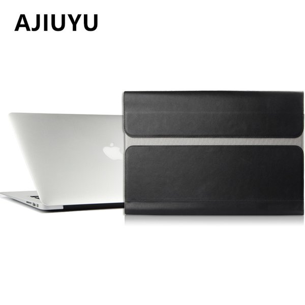 AJIUYU Computer package Briefcase Case Sleeve For Apple Macbook Air 13 inch Laptop Bag Liner leather File pocket Holster Covers