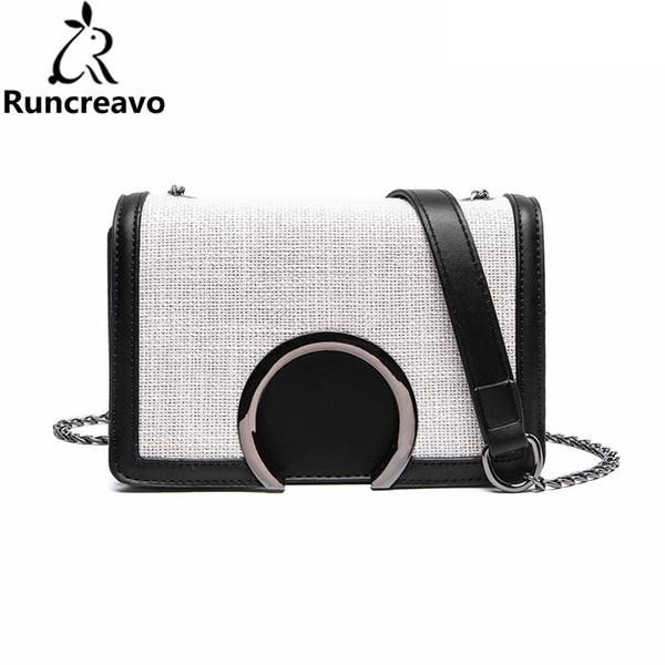 2018 crossbody bags for women leather handbag luxury handbags women bags designer patchwork chain messenger bag bolsa sac a main