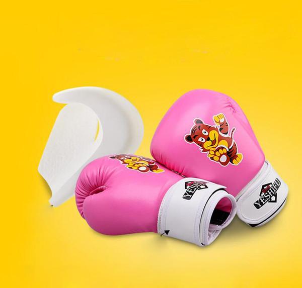 Hot Children's boxing gloves boys professional Sanda Taekwondo kids girls fight martial arts training gloves Muay Thai women