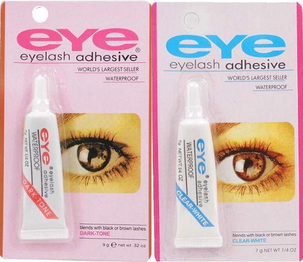 100pcs Beauty Makeup Clear White Black Waterproof False Eyelashes Makeup Adhesive Eye Lash Glue 7g