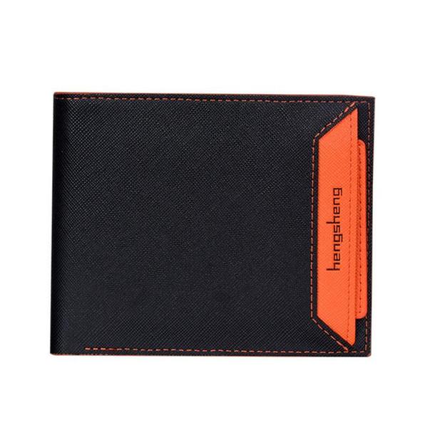 Mens pas cher court paragraphe portefeuille couleur carte de permis de conduire carte paquet paquet portefeuille couple étudiant a frappé couleur ultra-mince portefeuilles créatifs