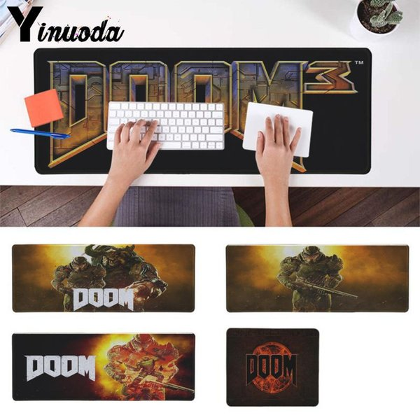 Yinuoda Hot Sales Doom HZ Stalker Customized laptop game Gaming mouse pad anime Mouse mat Keyboard pad Table Mat for dota2 lol