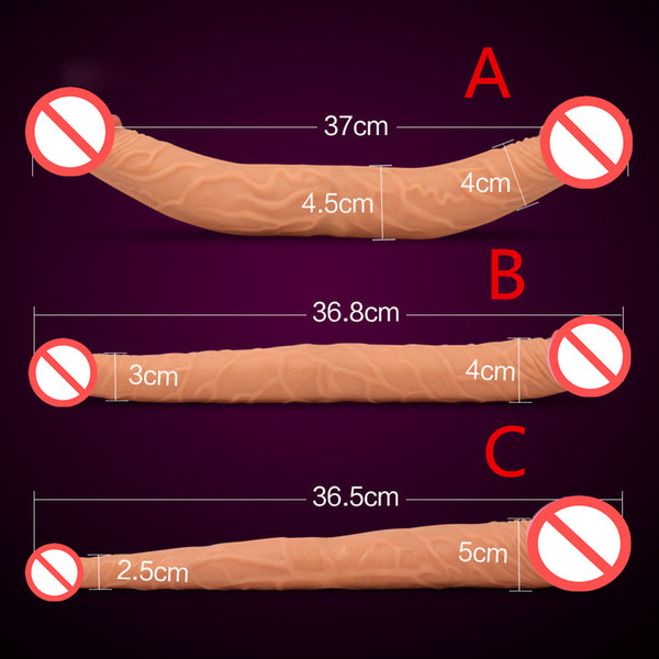 FREE SHIPPING!double dong Lesbian sex toys for women double dildos gay long huge dildo realistic penis 3 size Optional double dildos