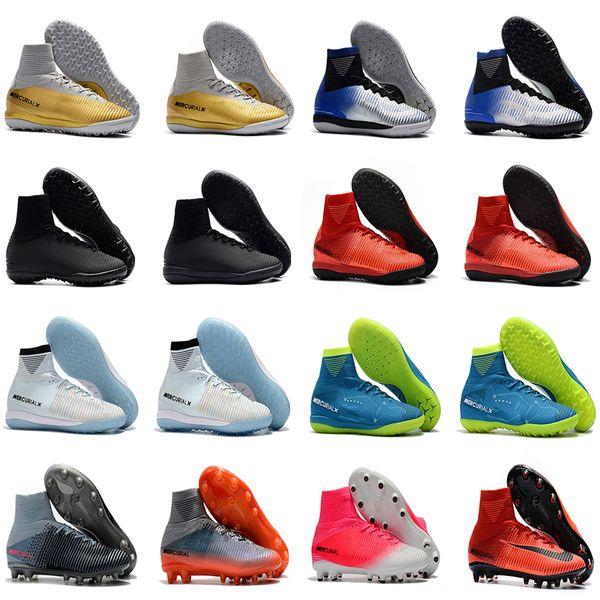 cheap mens cr7 soccer cleats Mercurial Superfly V TF IC indoor soccer shoes cristiano ronaldo Crampons de football boots neymar New Hot