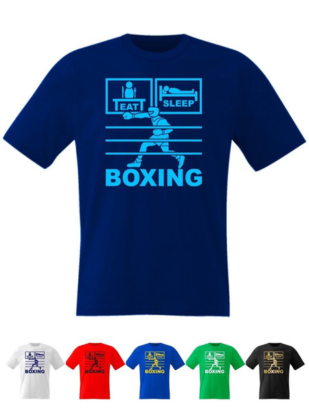 Eat Sleep Boxing T Shirt with Gloves Headgear Boots Funny free shipping Unisex Casual tshirt gift
