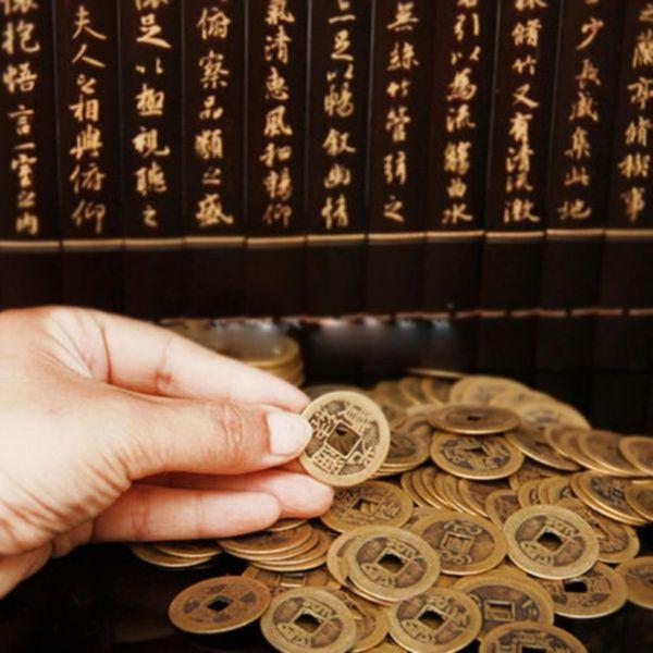 Monete cinesi Feng Shui per la ricchezza e il successo Fortunato Imperatore orientale Qing Vecchia copia moneta Car Decoration Fortune Coin 10 pezzi