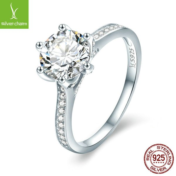 Villa Goods In Stock New Pattern S925 Pure Silver Eternal Grace Fashion Plating Platinum Ma'am Diamond Ring SCR342 A911