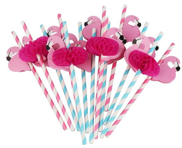 3D Flamingo Stroh Bendy Flexible Kunststoff Cocktail Trinkhalme bar Kinder Geburtstag Hochzeit Pool Party Dekoration Lieferungen Kostenloser Versand