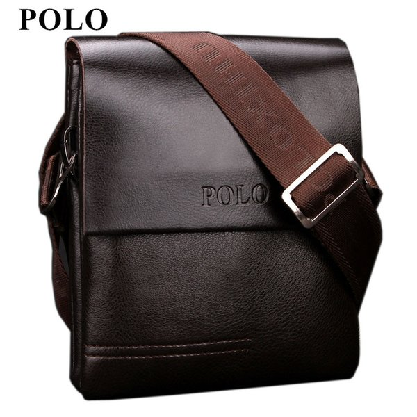New Arrived POLO Genuine leather men's messenger bag mini fashion shoulder bag cross body business briefcase Free Shipping