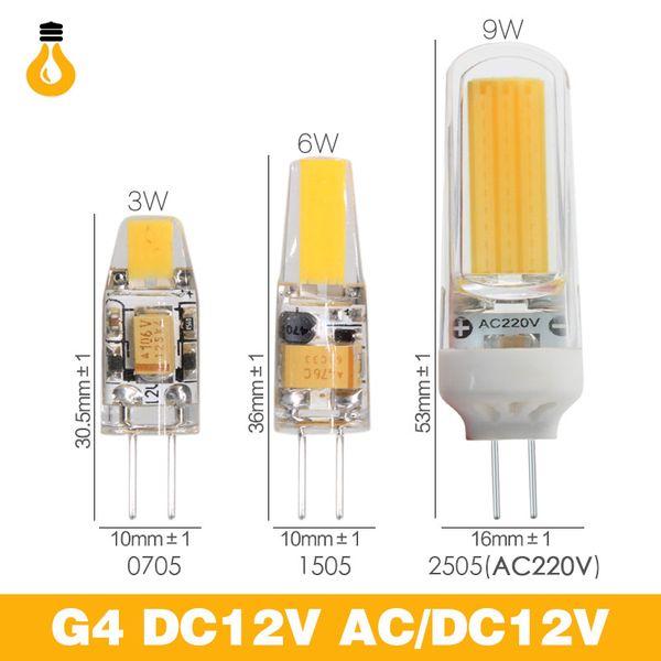 E14 led lamp G4 G9 Lamp Bulb AC/Dimmable 12V 220V 3W 6W 9W COB SMD g4 g9 Lights Led-Licht Dimmbar Kronleuchter Lichter Erset
