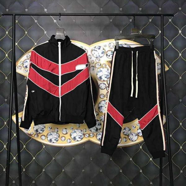 Awesome Fashion Italian Sports Tracksuits Men Designer Streetwear Jogging Pants Stripes Sportswear joggers for men stars S-XL