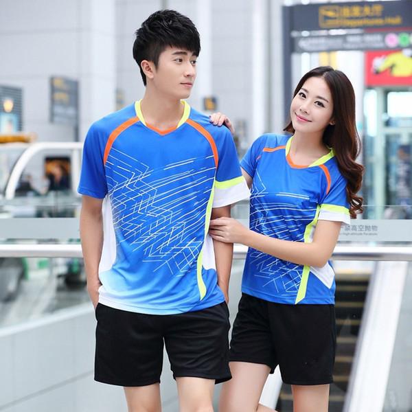 907e34c7f New 2018 SALE badminton Shirt Shorts suits,men / women short-sleeved table  tennis suits,couple sportswear suits,tennis clothing Orange M-4XL