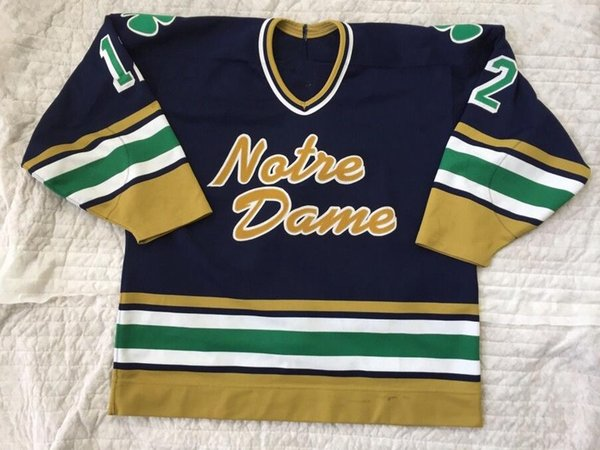 1994-95 Notre Dame 12 Kevin Young Hockey Jersey Embroidery Stitched  Customize any number 74d2462e7