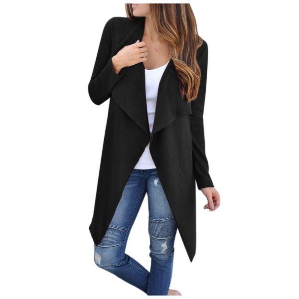 Long Cardigan Female 2018 Spring Autumn Fashion Long Sleeve Tricot Cardigan Women Sweater Jacket Winter Tops Coat Plus Size New