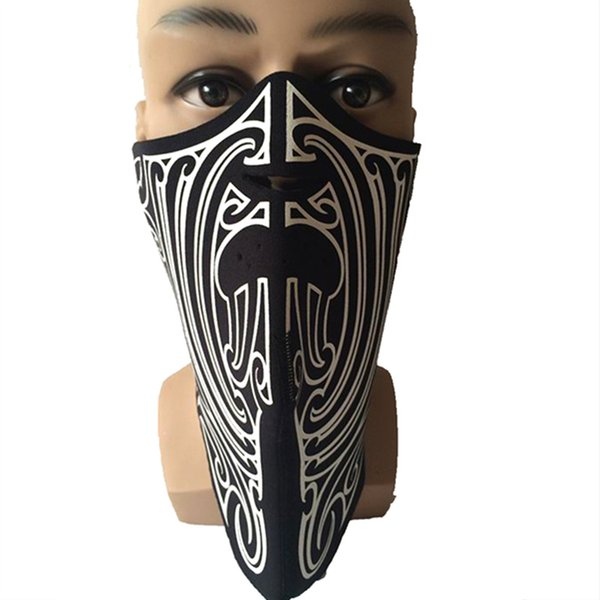 Outdoor Sports Neck Warmers Motorcycle Balaclavas Skiing Cycling Windproof Protective Half Face Mask Neoprene Hunting Mask