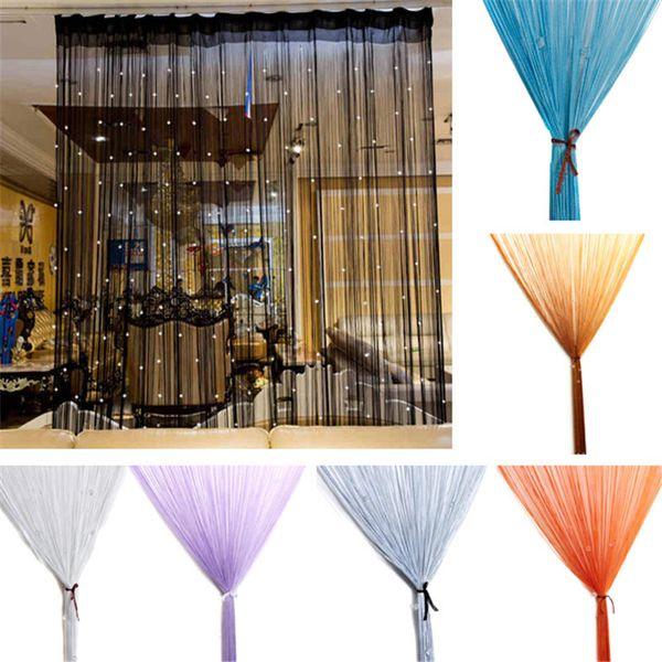 top popular Beaded Curtain String Door Window Room Panel Glitter Crystal Ball Tassel String Line Door Window Curtain Living Room Divider Decorative 2020