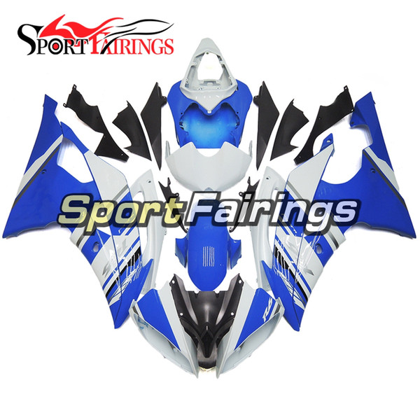 Complete Motorcycles Fairings For Yamaha YZF600 R6 YZF-R6 2008 - 2016 09 12 14 15 16 Injection ABS Plastic Motorcycle Body Kit White Blue